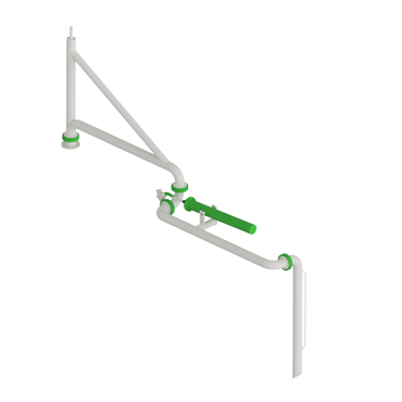 Supported boom top loading arm